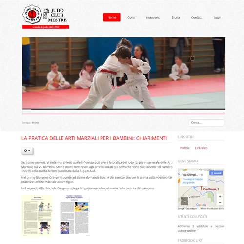 Judo Club Mestre - Restyling sito